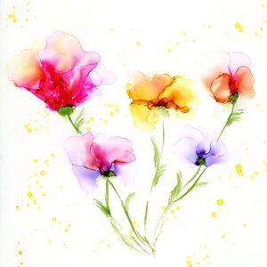 Inky Flowy Flowers